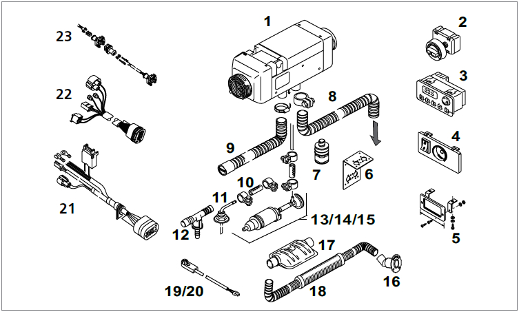 LU Air Top Evo 5500 Diesel 12V Marine Evo MC04 - FaZu ...